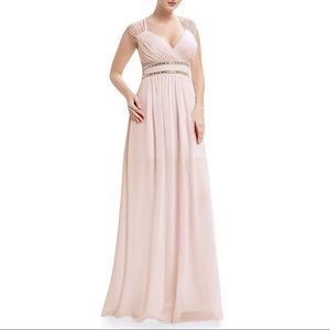 Dresses & Skirts - Blush Pink Goddess Chiffon Wedding Dress, 4-16